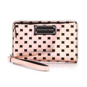 Marc Jacobs Gold Wristlet